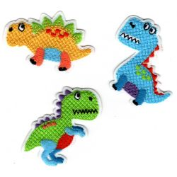 Patch Ecusson Thermocollant 3 x dinosaure 3 x 4,50 cm