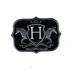 Patch Ecusson Thermocollant Royal Horse Coloris noir et argent 4 x 6 cm