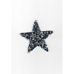 Ecusson Thermocollant ETOILE STRASS Coloris BLEU